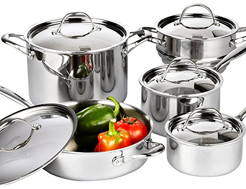 Cooks standard 10 piece multi ply clad cookware set for Kitchen set node attributes