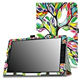 MoKo Tab E 9.6 Case - Slim Folding Cover for Samsung Galaxy Tab E / Tab E Nook 9.6 Inch 2015 Tablet (Fit Both WiFi and Verizon 4G LTE Version), Lucky TREE
