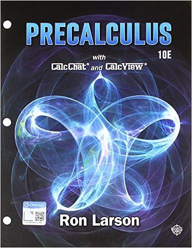 Bundle: Precalculus, Loose-leaf Version, 10th + WebAssign Printed Access Card for Larson's Precalculus, 10th Edition, Single-Term