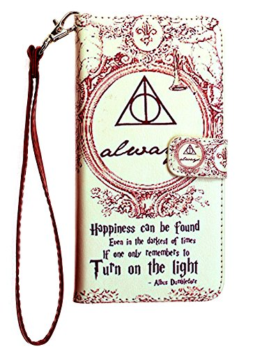 Galaxy S7 Wallet Case, IMAGITOUCH Folio Flip PU Leather Wallet Case with Kickstand Wrist strap and Card Slots for Samsung Galaxy S7 - Harry Potter Dumbledore Always ()
