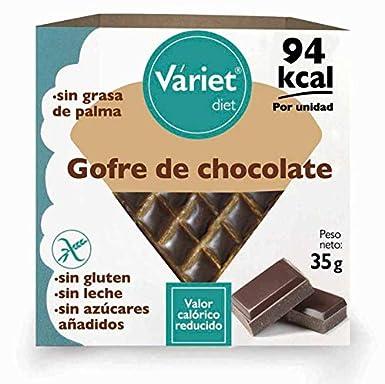 Gofre de CHOCOLATE LIGHT VÁRIET. Sin gluten, sin leche, sin grasa de palma. 35 g: Amazon.es: Alimentación y bebidas