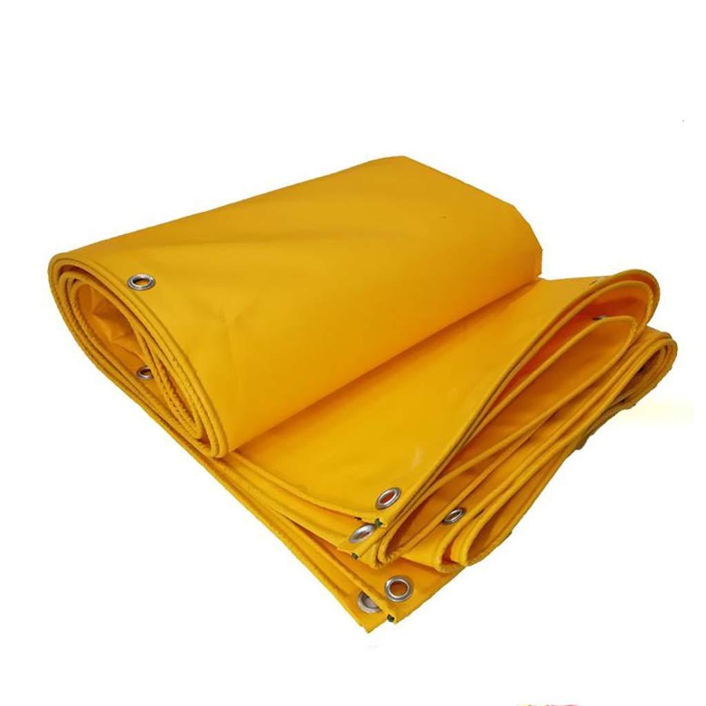 ターポリン 屋外ターポリンサンシェード防水レインターポリントラック防塵レインカバー620g / m 2、イエロー (Size : 3m*5m) B07STY9V8X  3m*5m