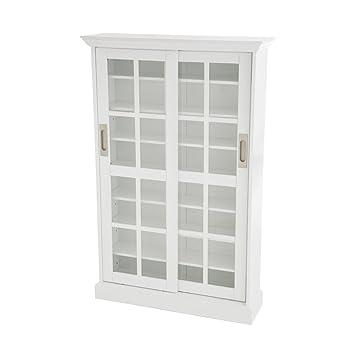 Amazon Sliding Door Media Cabinet White Kitchen Dining