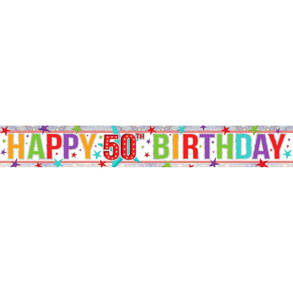 Amscan 9900015 2.7 m Happy 3rd Birthday Holographic Foil Banner Amscan Internatinal Ltd