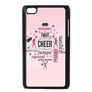 Diy Cheerleader Cheerleading Phone Case for ipod touch 4 Black Shell Phone JFLIFE(TM) [Pattern-5]