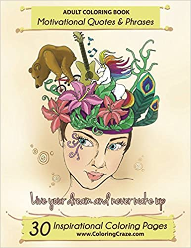 Amazon Com Adult Coloring Book 30 Inspirational Coloring Pages