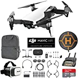 quad copter controller - DJI Mavic Air (Arctic White) Drone Combo 4K Wi-Fi Quadcopter with Remote Controller Mobile Go Bundle with Backpack VR Goggles Landing Pad 16GB microSDHC Card and HD Filter Kit