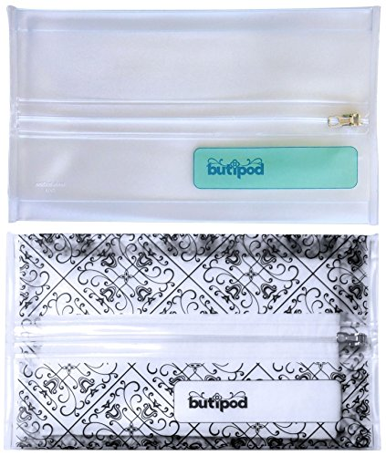 Baby Wipes Travel Case | Make-up Wipes Holder | Keeps WetWipes Wet! (2 pack, clear and black (Medallion Travel Bag)