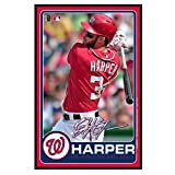MLB Washington Nationals Bryce Harper Wood Sign, Large/11 x 17-Inch, White