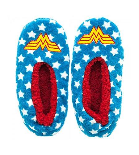 DC Comics Wonder Woman Cozy Slipper Socks, Large/X-Large (Wonder Women)