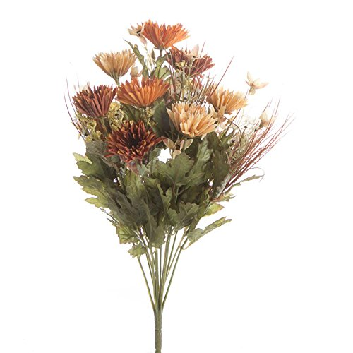 Factory Direct Craft® Artificial Fall Aster and Wildflower Bush for Home Decor, Crafting and (Fall Bush)