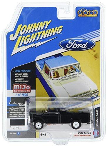Johnny Lightning 1:64 Mijo Exclusives - Classic Gold - 1959 Ford F-250 Pick Up Black Diecast Toy Car Jlcp7005-24 ()