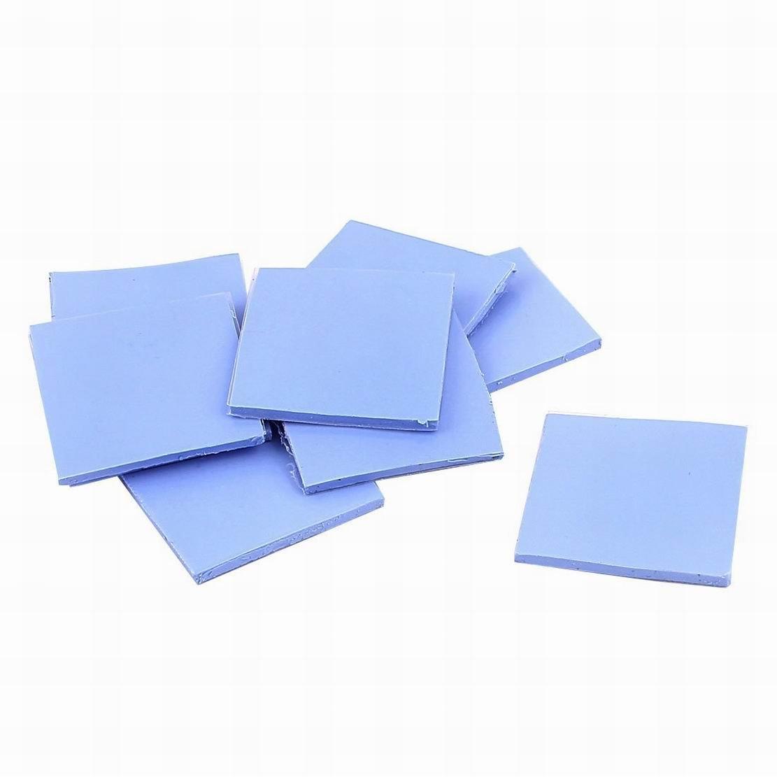 MariaP 10 Pcs Blue Thermal Pad CPU Heatsink Conductive Silicone 30mmx30mmx2mm
