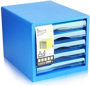 BBG Archivador de Oficina Archivadores-Archivadores 5 Capas Archivador Caja de Almacenamiento de Escritorio de Oficina Archivadores A4 Archivadores (Color: Blanco),Azul: Amazon.es: Bricolaje y herramientas