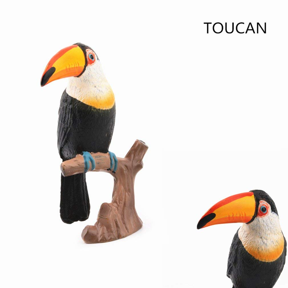 Yogatada Simulation Lifelike Wild Animal Toy Toucan Model Educational Toy Toucan