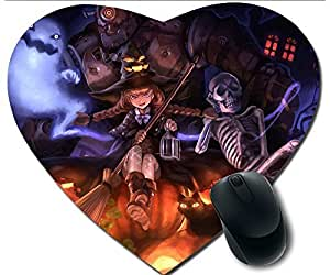 Hot Heart-Shaped Comfortable Mouse Pad - Customizable Printed On Pumpkin Halloween Clown Angel City Durable Cool Game Mouse Pad