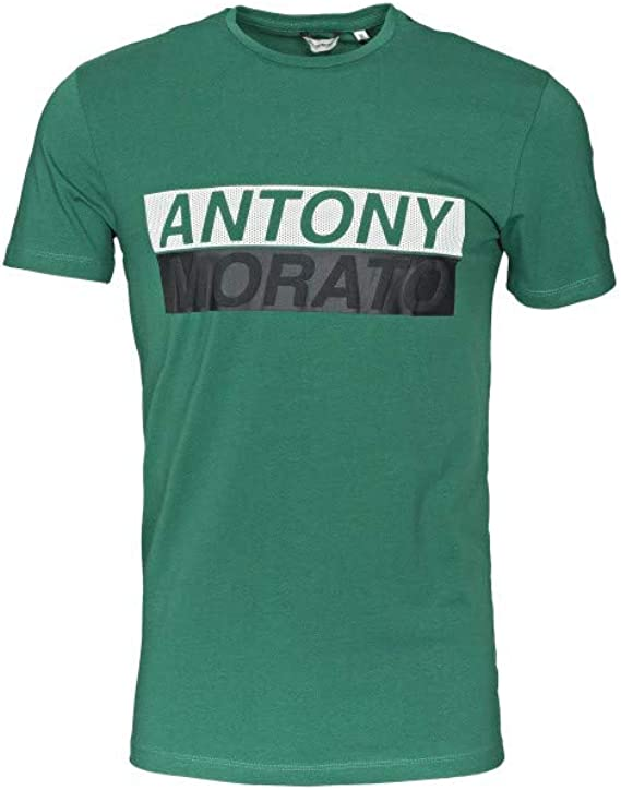 Antony Morato Camiseta Manga Corta para Hombre Estampada MMKS01719 ...