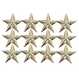 1/2 Inch Gold Star Lapel Pin - Package of 12, Poly Bagged
