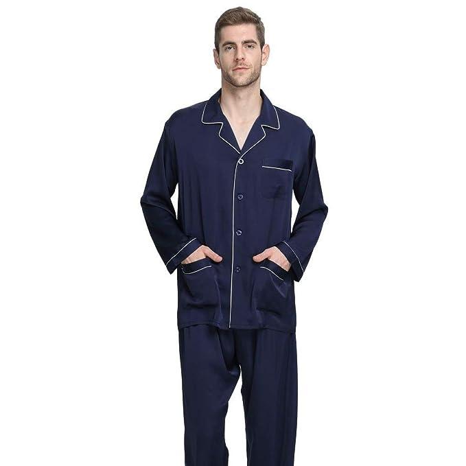 Pijamas Conjunto De Hombres Otoño Momma Baño Primavera Simple Estilo Pijama Long Loungewear Acogedor Hogar Ropa De Dormir Chemise De Dos Piezas: Amazon.es: ...