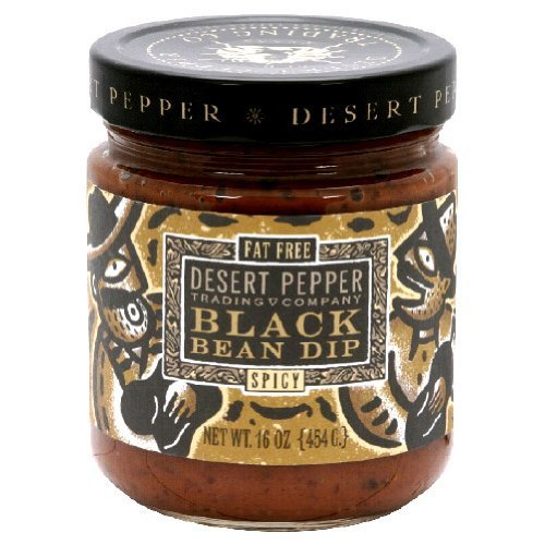 Salsa Desert Roasted Pepper (Spicy Black Bean Salsa - 16 ounce - 6 per case.)