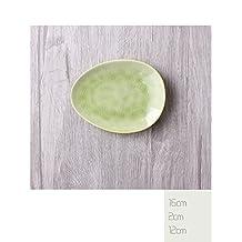 Porcelain Dinnerware Plate for Appetizer Dessert Salad, Snack Sushi Fruit