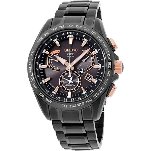 Titanium Calendar Seiko Perpetual (Seiko Astron GPS GPS controlled time Black Ion Titanium watch SSE075)