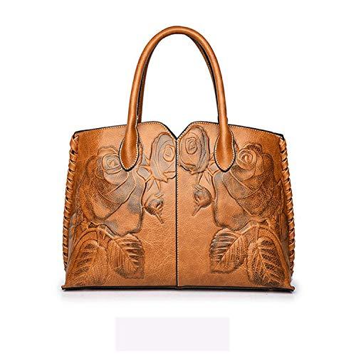 Feminina 2019 Ladies Genuine Leather Bag For Women Green Luxury Handbag Female Embossed Messenger Bag,Brown