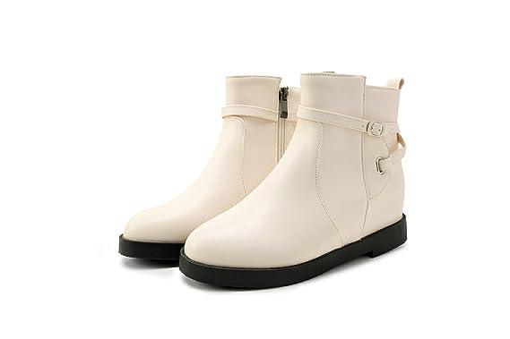 ZQ QXChaussures Chaussures à fond plat bottes,Black,43