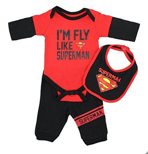 Price comparison product image D.C Comics Baby Boys 3 Piece Set - Superman,  3-6 M
