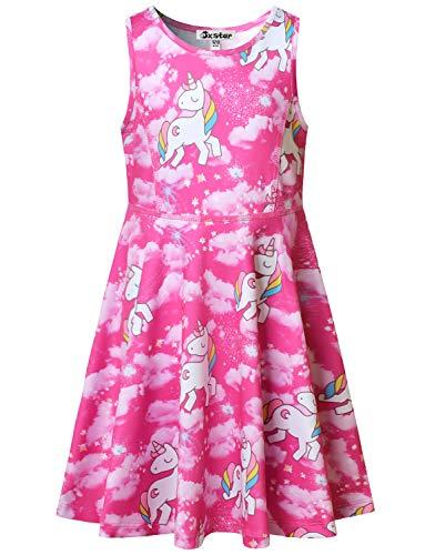 Girl Unicorn Dresses Sleeveless Summer Casual Dress Outfits