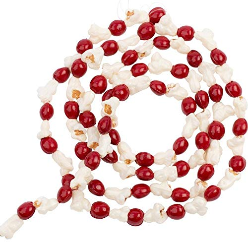 Cranberry Popcorn Garland - Factory Direct Craft Artificial Popcorn and Cranberry Garland | for Christmas Tree Decorating