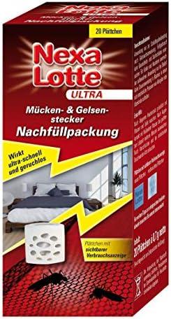 Nexa Lotte Ultra Mücken Gelsen Stecker Nachfüllpack F Elektro Mückenstecker Mit Plättchen Gegen Stechmücken 20 St Garten