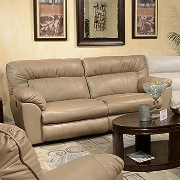 Superb Amazon Com Nolan Power Extra Wide Reclining Sofa Putty Inzonedesignstudio Interior Chair Design Inzonedesignstudiocom