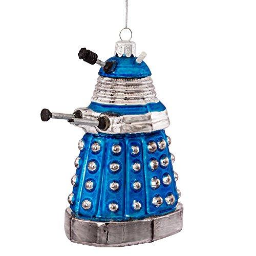 Kurt Adler Doctor Who Glass Dalek Ornament, 5-Inch, Blue