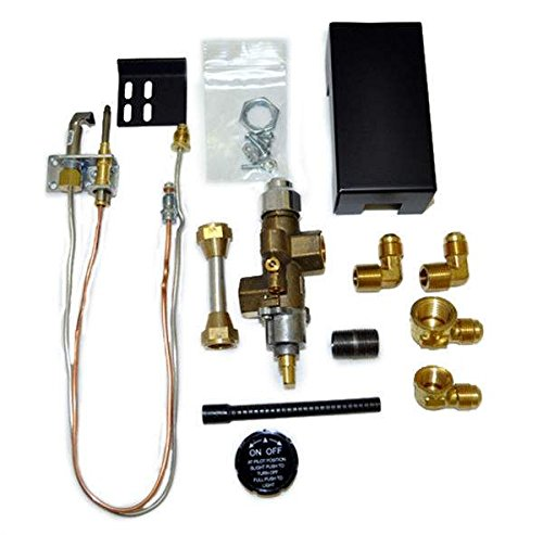 Manual Valve Safety Pilot - Hearth Products Controls Copreci Side Inlet Safety Pilot Kit with 3-inch Swivel Quick Connect (72PKNQM), Natural Gas