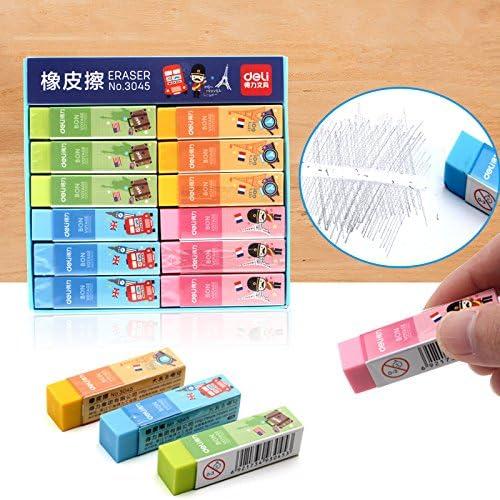 MONNY - Juego de 4 gomas de borrar de colores frescos Bon Voyage PVC 4B papelería Oficina Material escolar Boracha de apagar A6920: Amazon.es: Juguetes y juegos
