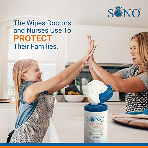 6-Pack Medical Grade Disinfecting Wipes – Bleach-Free, Multi-Surface Wipes Used By Healthcare Professionals (6 Packs of 80 Wipes) by SONO (Image #6)