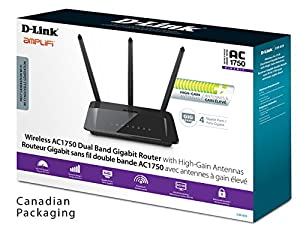 D-Link AC1750 Gigabit Wi-Fi Router – High Power Amplifiers – Dual Band Speeds (DIR-859)