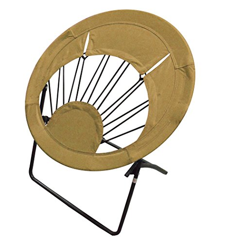 Impact Canopy Sunrise Bungee Chair, Round Portable Folding Chair, Brown