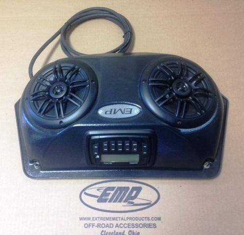 2014 Kawasaki Mule Slim UTV Overhead Stereo Pods with stereo and wiring By EMP 12595