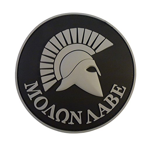- LEGEEON ACU Gray Spartan Molon Labe US Navy Seals Morale Tactical PVC 3D Rubber Touch Fastener Patch