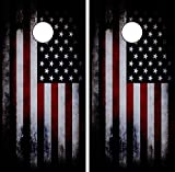 C194 Distressed American Flag CORNHOLE WRAP WRAPS LAMINATED Board Boards Decal Set Decals Vinyl Sticker Stickers Bean Bag Game Vinyl Graphic Tint Image