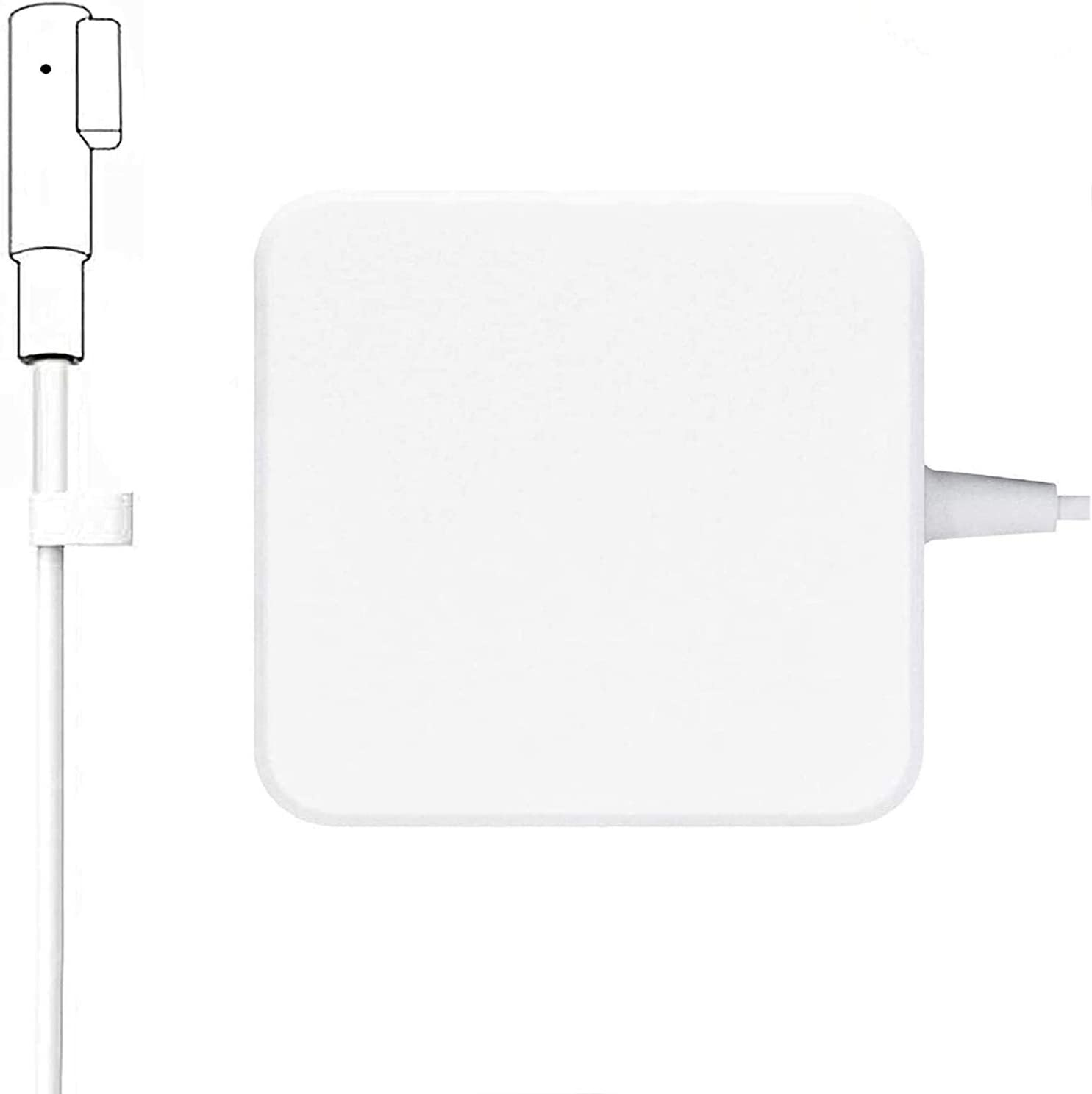 85W Mac Book Pro Charger,L-Tip Backup Power Adapter Charger Suitable Replacement for Mac Book Pro 13,15,17 Inch with Magnetic Connector(Compatible with Models Before Mid 2012).
