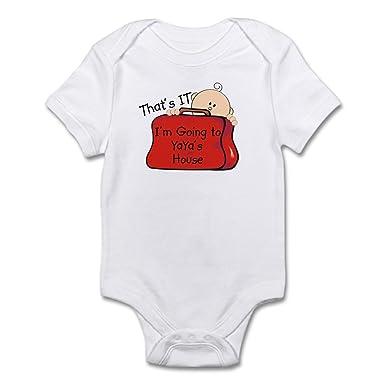 4a3d68c7096c9 CafePress Going to Yaya's Funny Infant Bodysuit Cute Infant Bodysuit Baby  Romper Cloud White