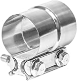 #4: TOTALFLOW TF-J58 304 Stainless Steel Lap Joint Exhaust Muffler Clamp Band 2.5