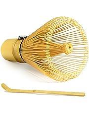 Zen Green Tea ZGT-Whisk Matcha Bamboo Whisk, 100 Prong, Golden Bamboo