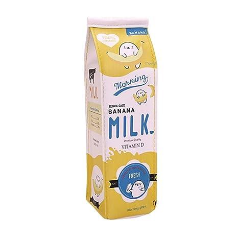 Amazon.com: gbell lindo estuche para lápices Creative leche ...