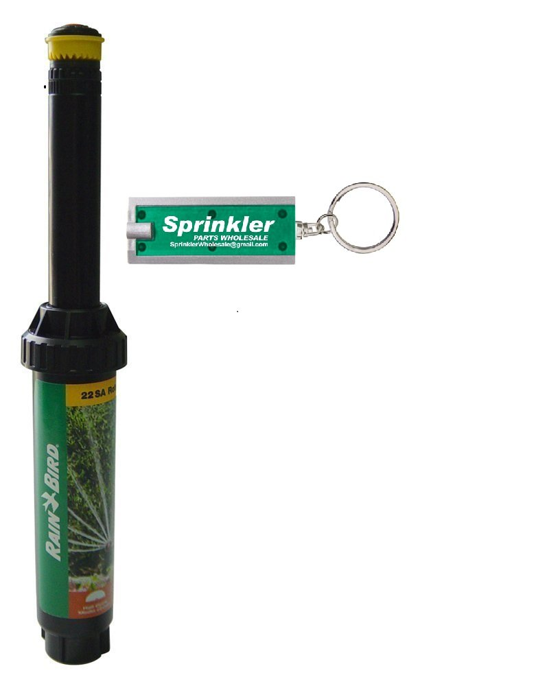 Rain Bird 22SA-H - 4'' Rotary Pop-up Spray 18' - 24' - Half Circle 180° *Plus Free Sprinkler Wholesale Flashlight Key Chain* 22SAH Rotary 180 Degree (1)
