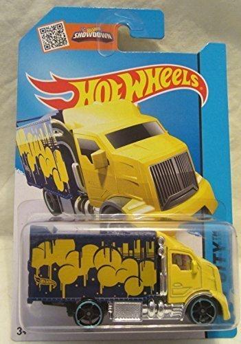 Hot Wheels HW City Hiway Hauler 2 Yellow/Purple 28/250 2015