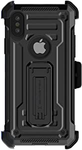 Ghostek Iron Armor2 Military Grade Case with Holster Belt Clip Designed for iPhone Xs Max – Black